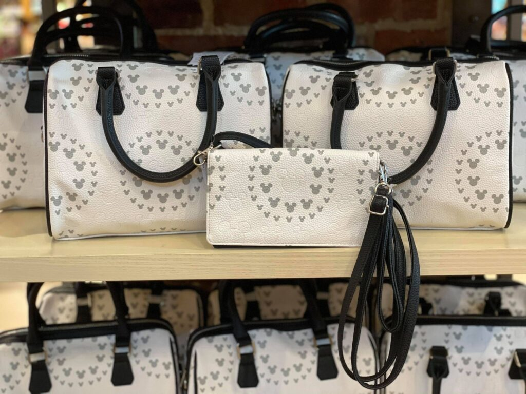 White And Gray Mickey Bags