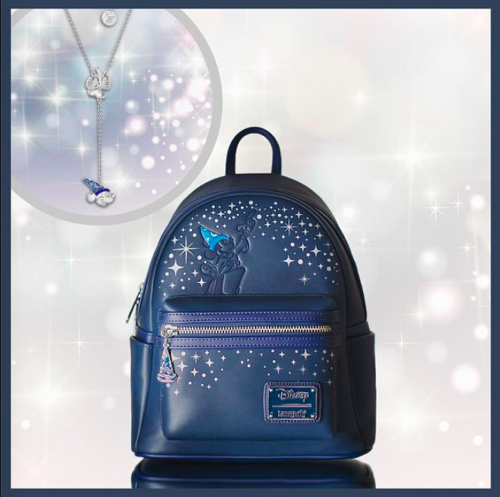 Fantasia Loungefly Mini Backpack and Necklace