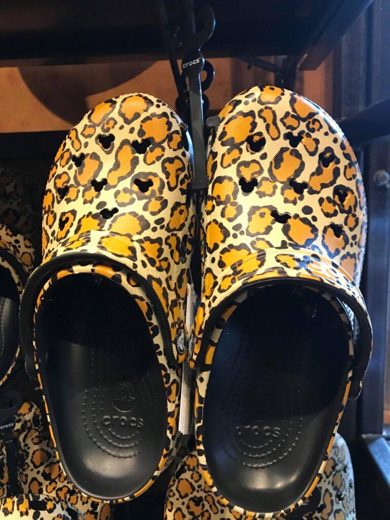 Leopard Print Mickey Crocs