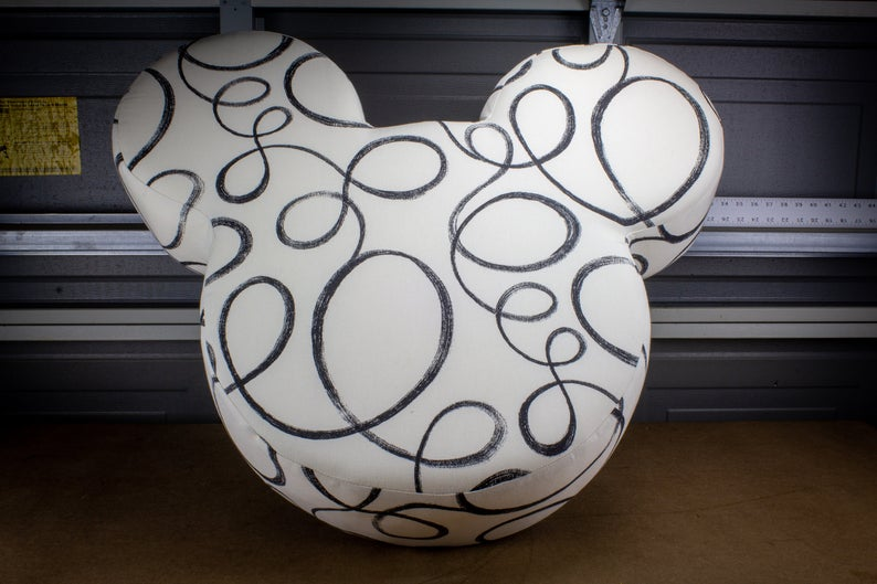 Custom Handcrafted Mickey Ottomans