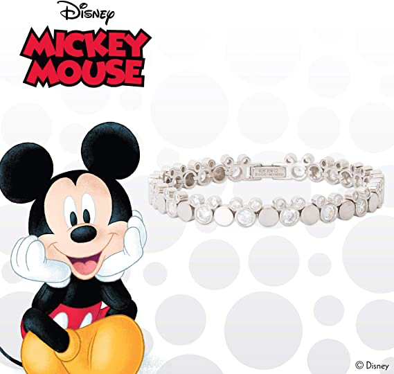 Silver Mickey Tennis Bracelet